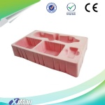 Thermoformed flocked blister packaging tray